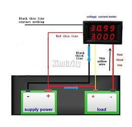 Wholesale precision voltage - Wholesale-4 Bit dual Digital LED Voltage Current Meter Head DC 0-33.00V   0-999.9mA-3A Variable Precision Voltmeter Ammeter Red