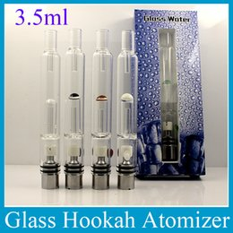 Wholesale Ego Hookah - Pyrex Glass Water Atomizer Hookah Pen Smoking Pipes E Cig Tank Dry Herb Wax Vaporizer Glass Shisha Atomizer For EGO Evod Battery ATB031