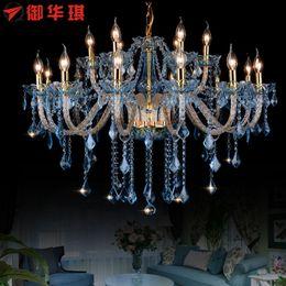 cristal para lustre atacado Desconto Longree Âmbar cor levou lâmpadas lustre de cristal com abajures de tecido preço de atacado luzes de cristal da vela do candelabro