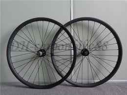 Wholesale Mtb Wheelset 29er - 29er carbon fiber mtb bike wheelset 3k matt 27mm width full carbon mountain bicycle wheels with 711-712 hub