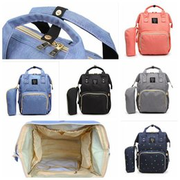 Wholesale Baby Diaper Bags Backpacks - Mummy Maternity Nappy Diaper Bag Large Capacity Baby Bag Travel Backpack Desinger Nursing Bag for Baby Care 20pcs OOA3370