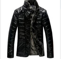 Wholesale 4xl Sheepskin Jacket - Fall-New Warm Autumn Winter Sheepskin Men's Leather jacket Men Leisure Fur coat ,mens leather jackets and coats size 4XL 5XL