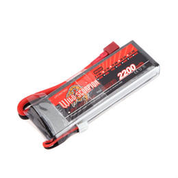 Wholesale Lipo Max - High Quality Wild Scorpion 2200mAh 35C MAX 45C 2S T Plug Lipo Battery 7.4V for RC Car Airplane Helicopter Part order<$18no track