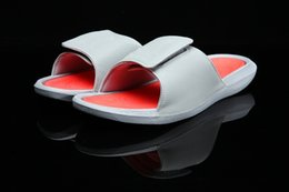Wholesale Pink Polka Dot Straws - High Quality Retro 7 Hawaii Slippers Men 12 13 4 Hydro Dots White Red Blue Slides Slippers Summer Beach Casual Sandals size 40-47