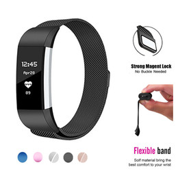 Wholesale Metal Wristbands - For Fitbit Charge 2 Magnetic Replacement Band Wristband Stainless Steel Metal Watch Bracelet Mesh Strap with Stronger Magnetic Clasp 2017