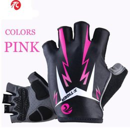 Wholesale Fitness Road - Women Shockproof Cycling Gloves Fitness Female Sport Bike Gloves Motorcycle Outdoor Mountain Road Bicycle Riding Gloves