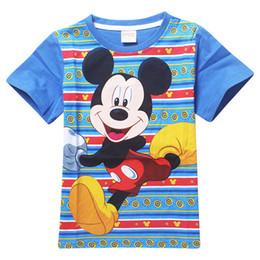 Wholesale Tees Kid Cartoon Clothes - summer Mickey Tee T-shirt boys short sleeve cartoon shirts baby girl shirt 100% cotton tops kids clothes