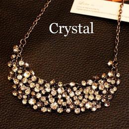 Wholesale Choker Luxurious - 100+ pcs rhinestone New designer women sweater Luxurious brand rhinestone gem choker necklace Summer jewelry for women 2014