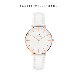 Wholesale Leather Belt Stainless Steel Buckle - New Daniel Wellington Daniel Wellington Sweden imported luxury watch DW look female white belt 32MM rose gold dial Buy Free Shipping