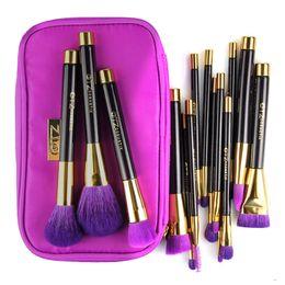 Wholesale Pro Makeup Bags - Pro 15pcs Makeup Brushes Set Powder Foundation Blush Eyeshadow Eyebrow Face Brush Pincel Maquiagem Cosmetics Kits With Bag