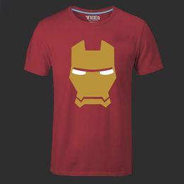 Wholesale Iron Man American Hero - Iron Man Men T Shirts The Avengers Printing Green Arrow Hulk Stark American Movie Cartoon Hero Swag Male Tee Shirt plus size