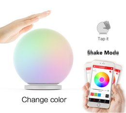 Wholesale Led Sphere Lights - Wholesale-MIPOW PLAYBULB Sphere Smart Color Changing Waterproof Dimmable LED Glass Orb Light Floor Lamp Night Lights Tap to Change Color