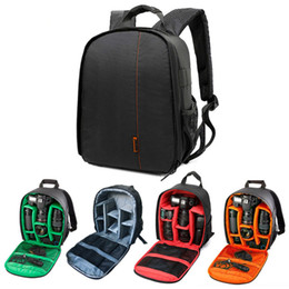 Wholesale Camera Case Pouch - Waterproof Digital DSLR Photo Padded Backpack Camera Drone GoPro Bag w  Rain Cover Multi-functional SLR Soft Bag For Canon Sony Nikon