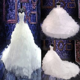 Wholesale Custom Bridal Gowns China - 2015 Actual Image Crystal Beaded Vintage Corset White Sexy Brides Plus Size Wedding Dresses New Style China Sexy Bridal Long Wedding Gowns