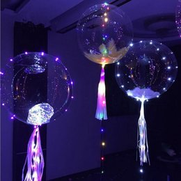 Wholesale Lighting Advertising Balloons - Luminous Led Transparent Balloon Flashing Wedding Party Decorations Holiday Supplies Color Luminous Balloons Light Up Ball 1000 pcs YYA757