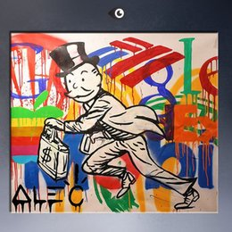 Wholesale Dj Panel - 2015 Alec DJ PICTURE MONOPOLY canvas print POP ART Giclee poster print on canvas for wall decoration painting porta retrato