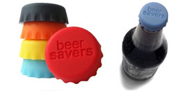Wholesale Gel Bottle Caps - Cheapest Price!Creative Silicone Rubber Bottle Caps Tops Wine Beer Caps Saver Custom Beer Bottle Lids Silica Gel Cover Caps 6pcs lot