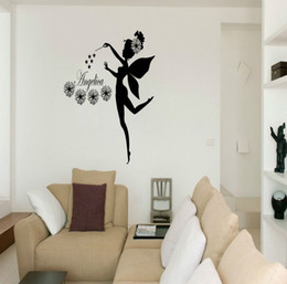 Wholesale Pink Fairy Wall Stickers - Fairy Stars custom-made Name Personalised Vinyl Wall Sticker Art Decal Mural