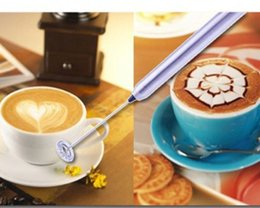 Wholesale Coffee Maker Milk Frother - free dhl to US Automatic Electric milk frother with stainless steel frothing coil cappuccino latte coffee foaming maker no battery wn284