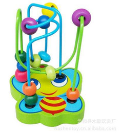 Wholesale Wooden Toys Maze - Wholesale-Hot Baby Wooden Toy Colourful Mini Educational Toy Baby Intellectual Development Maze with Beautiful Color and Animal
