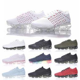 Wholesale Lighting Nano - 2018 New Vapormax 2 Running Shoes For Men Women Sneakers Nano-drop plastic Knitting KPU Fashion outdoor Athletic Sport Shoe Walking trainers