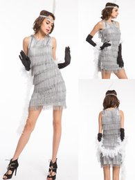 Wholesale Flapper Dress Halloween Costume - Free shipping Flapper Costume Adult Womens Sexy Girl Roaring 20s Fancy Dress
