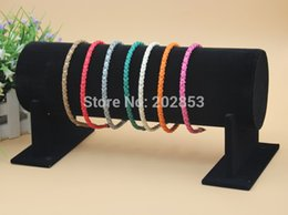 Wholesale Display Stands Headband - Wholesale-1pc lot Hot new fabric hair jewellery headband display hair band jewelry holder stand Hairband Show Shelf Big Size 50*16.5*11cm