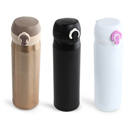 Wholesale Insulated Flasks - 500ml Stainless Steel Thermos Bottle With 3 Colors Thermo Mug Water Bottle Kitchen Vacuum Flasks Insulated Cup Thermos BN8