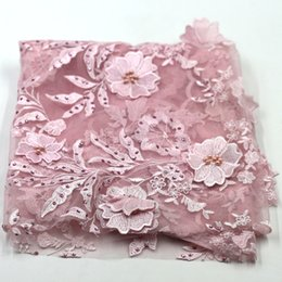 Wholesale Pink Tulle Fabric Netting - Last embroidered lace fabric african tulle lace net lace fabric with beads
