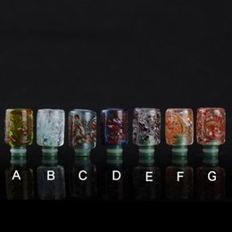 Wholesale Flowers Bears - Rich Style E Cig 510 Pyrex Glass with Resin Drip Tip Art Flower Wide Bore Drip Tips EGO CE4 Atomizer Mouthpiece for DCT RDA RBA Cartomizer