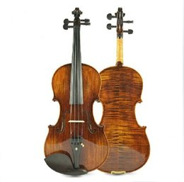 Wholesale Violin Oil Varnish - New Arrival High Grade Master Natural Tiger Strip Violin, Antique Oil Varnish Handmade Violin(TYHGV0028)