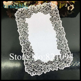 Wholesale Gift Flowers Wedding Invitations - 50PCS lot Free shipping Laser Cutting Paper Lace Flowers Hollow Out Wedding Business Party RSVP Invitation Save The Date Card