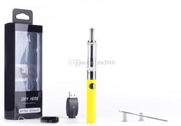 Wholesale Herb Ecigarette - M3 EVOD Dry Herb Electronic Cigarettes Vaporizer M3 With EVOD Battery Blister Pack Ecig Dry Herb Pyrex Glass M3 Huge Vapor Ecigarette