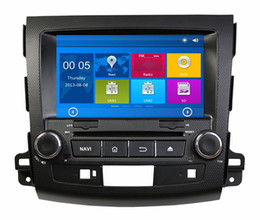 "Wholesale Mitsubishi Car Dvd Player - HD 2 din 8"" Car Radio Car DVD Player for Mitsubishi OUTLANDER 2006-2012 With GPS Navigation Bluetooth IPOD TV SWC USB AUX IN"