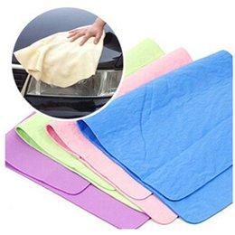 Wholesale Car Care Cleaning - 2015 Compressed PVA Chamois Magic Towel Car Auto Care Clean Towel Cloth PVA Polishing Cleaning Towel free shipping