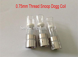 Wholesale Dry Herb Chamber Atomizer - HOT!!! 0.75mm Snoop dogg atomizers Rebuildable coil Heating Chamber with glass tube Dry Herb Wax herbal vaporizers pen Replacement coils