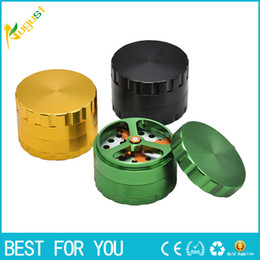 Wholesale Grinder Blades - New Luxury Dry Herb  Tobacco Grinder with Cutting Blades, 63mm 2.5 Inch Patented Aluminum DIY Crusher grinder Smoking accessory