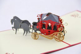 Wholesale 3d Greeting Cards For Kids - 3d handmade card carriage gift card for kids 3d lovely greeting card cute post card