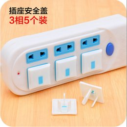 Wholesale Electric Socket Protection - Socket Protection Electric Shock Hole Children Care Baby Safety Electrical Security Plastic Safe Lock Cover JF10