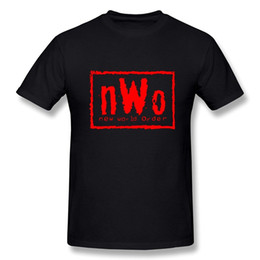Wholesale Fashion World Men - Men's New World Order NWO T-shirt t shirt men casual Man's tee T-shirt Women's summer t short Sleeve black tops woman costume 2017