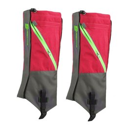 Wholesale Wholesale Hiking Boot Men - Wholesale- LUCKSTONE 1 Pair Waterproof Snow Boot Leg Leggings Includes Sturdy Outdoor Hiking Climbing (Gray Red)