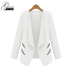 Gold Hands Women Spring Autumn Fashion Blazer Giacche Donna Slim a maniche lunghe Tinta unita femminile Casual Suit Office Lady Blazer da lavoro da
