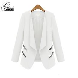 Wholesale Black Work Jacket - Women Spring Autumn Fashion Blazers Jackets Women Slim Long Sleeve Solid Coats Female Casual Suit Office Lady Blazers Work Wear