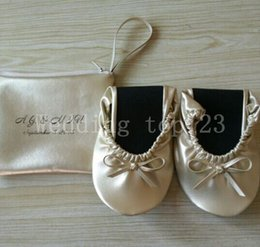 Wholesale Genuine Leather Ballerina Shoes - 2016 Hot Sale Fashion Brand Designer ballerina flats Women Genuine Leather shoes Rollable Foldable Travel Flats ladies shoes