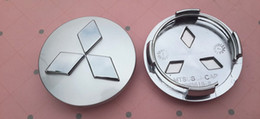 Wholesale Mitsubishi Outlander Wheels - 4pcs lot 60mm ABS Mitsubishi car emblem Wheel Center Hub Caps Wheel Dust-proof badge covers for Outlander 3.0 Lancer EX