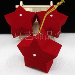 Wholesale Earring Wraps - Popular Jewelry Gift Box Necklace Rings Earrings Display Five Pointed Star Shape Organizer Anti Rust Boxes Delicate 2 9zr B