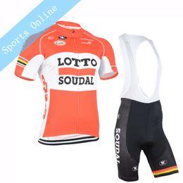 Wholesale Team Lotto Bike Short - Men cycling Jersey sets 2016 team lotto cycling clothing maillot ciclismo Short Sleeves Ropa ciclismo hombre MTB bike jersey+BIB Shorts 1