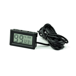 Wholesale Plastic Reptiles - Small thermo-hygrometer Miniature electronic temperature and humidity meter Reptiles digital thermo-hygrometer wireless indoor car refrigera