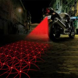 Wholesale Motorcycle Led Tail Light Brake - Motorcycle Anti-collision LED Laser Fog Lights Taillight Anti-fog Parking Stop Brake Lamps Warning Tail Light Motor Styling