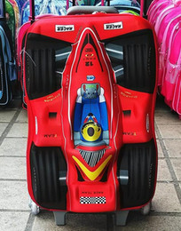 Wholesale Travel Bag Wheel Men - 2015 3D F1 boys travel suitcase, Children's rolling luggage , cartoon student trolley luggage Pull rod Suitcase
